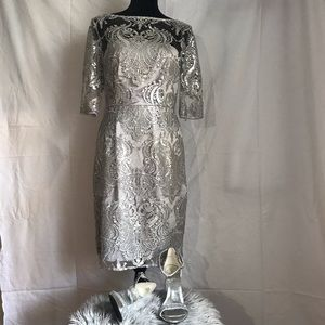 TAHARI PETITE AUTHUR S LEVINE Sequined dress